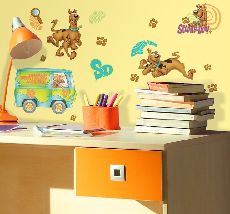 Scooby doo peel and stick wall decals multicolor