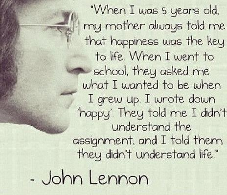 Not only John Lennon, but The Beatles.  I just really, really like this quote.