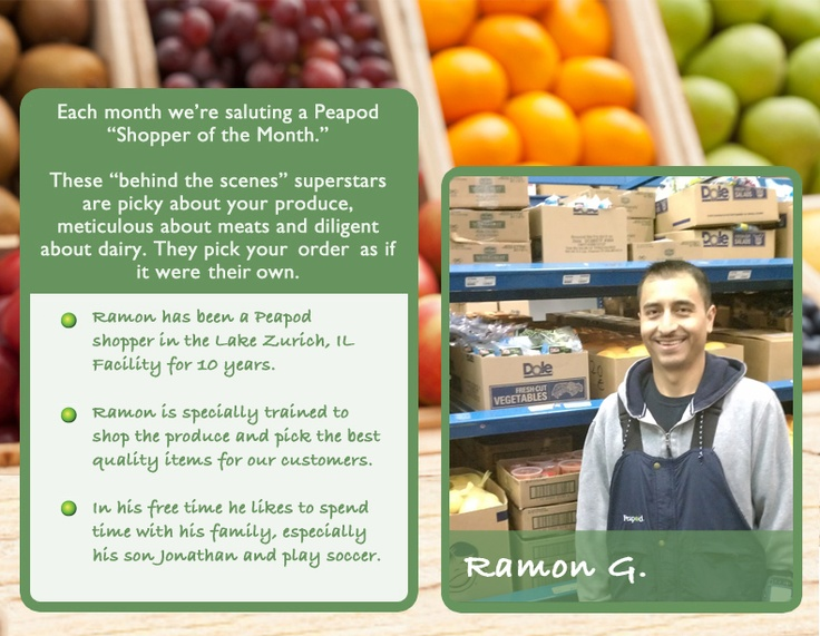 Ramon - picking and packing groceries for Peapod customers for over 10 years!: 2012 Shopper, Shopper Extraordinaire, Peapod Custom, July Shopper, Lakes Zurich, Peapod Shopper