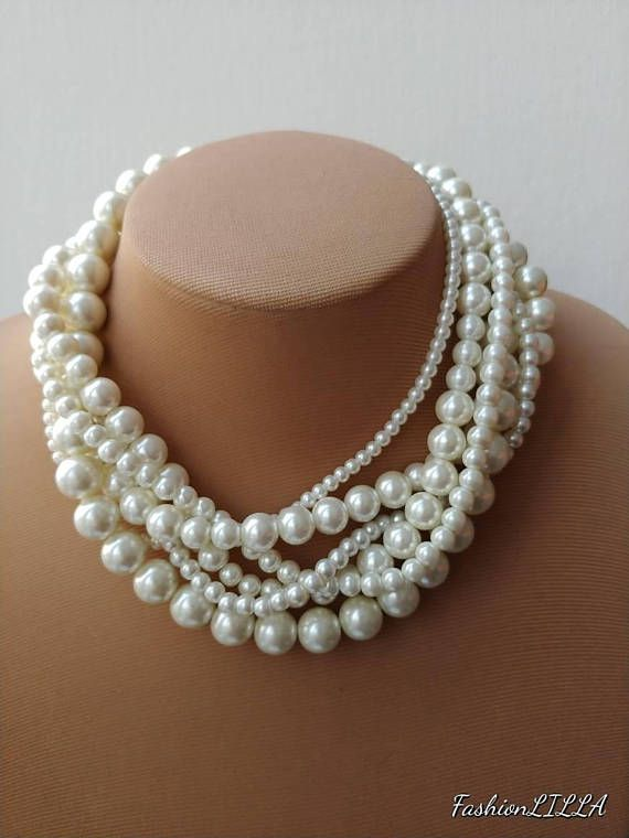 Check out this item in my Etsy shop https://www.etsy.com/ca/listing/568318474/mutistrand-pearl-necklace-bridal-pearl