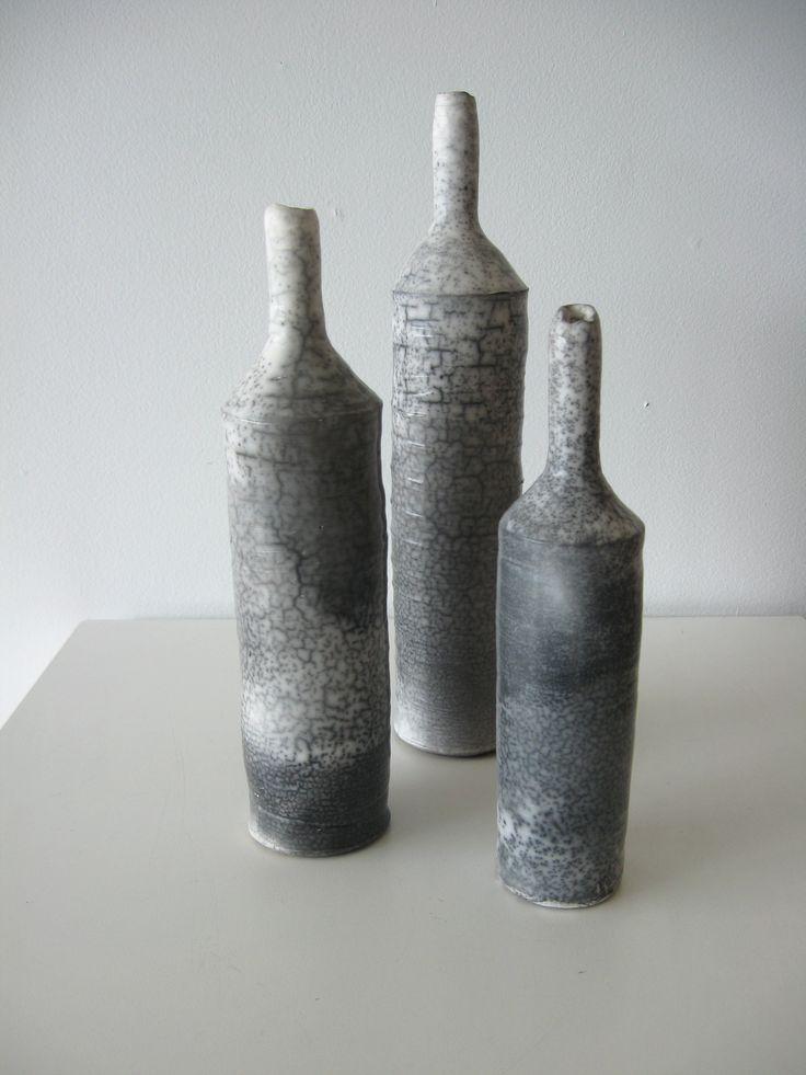 Graham Ambrose - Raku Bottle - ceramic