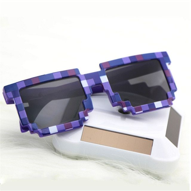 0eddfadffba93 Sun glasses For Women For Men Mosaic Party Glasses Vintage Minecraft 8 bit  Pixel Plaid Sunglasses