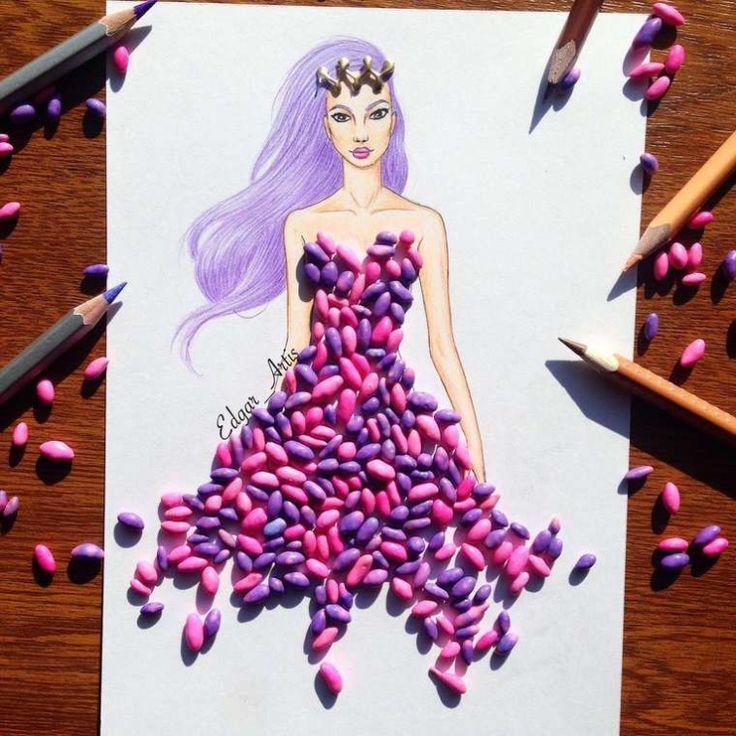 Fashion Food — красивые нарисованные девушки и их аппетитные платья, сделанные из еды