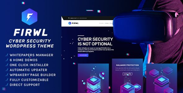 Free Download Firwl Cyber Security Wordpress Theme In 2020 Cyber Security Web Design Technology Theme