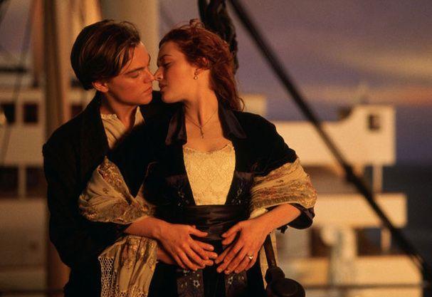 "Le baiser le plus romantique : ""Titanic"" - Leonardo Di Caprio - Kate Winslet"