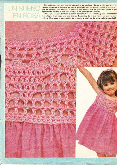 платье из ткани с вязаной кокеткой для девочки . Обсуждение на LiveInternet - Российский Сервис Онлайн-Дневников