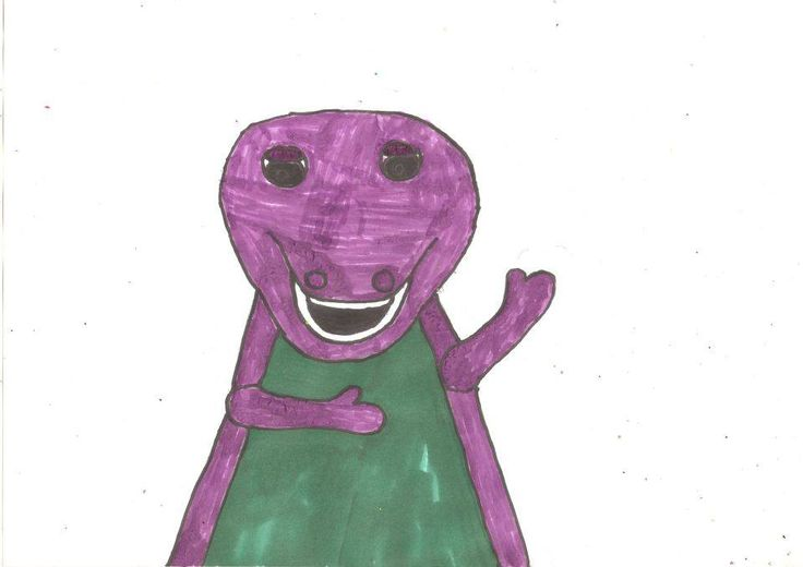 My drawing of Barney The Dinosaur