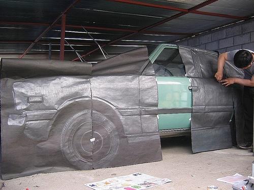 Car frottage art: pony78, via Flickr.