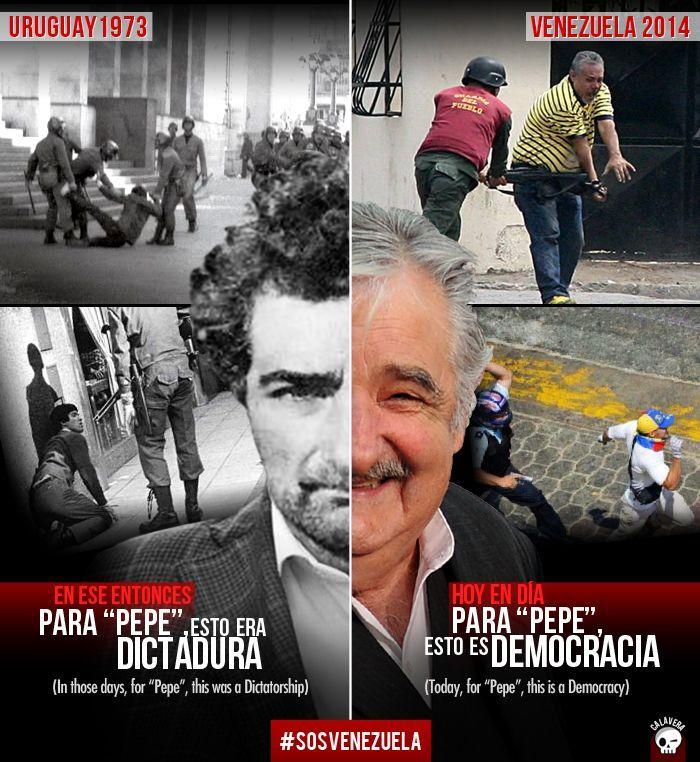 """José """"Pepe"""" Mujica, Presidente de la República Oriental del Uruguay (Fotomontaje de @_Calavera_) http://www.lapatilla.com/site/2014/03/13/las-dos-caras-de-los-presidentes-latinoamericanos-fotomontajes-de-_calavera_/"""