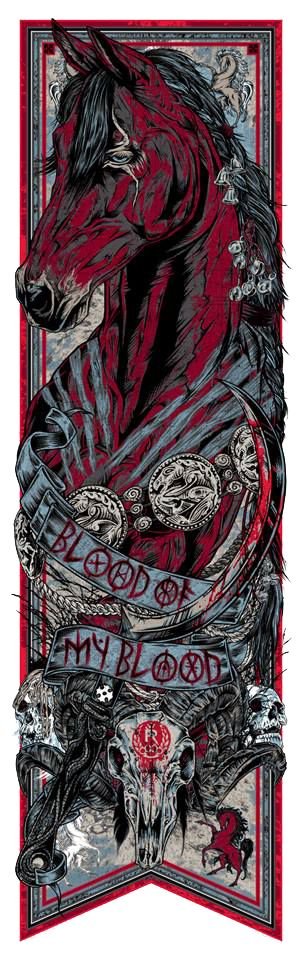 Cool Art: 'Game Of Thrones - Call Of The Banners' 'Blood Of My Blood', Drogo, Dothraki, by Rhys Cooper