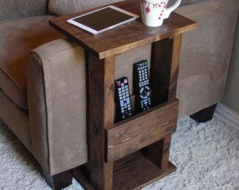 Sofa Chair Arm Rest TV Tray Table Stand with Side by KeoDecor