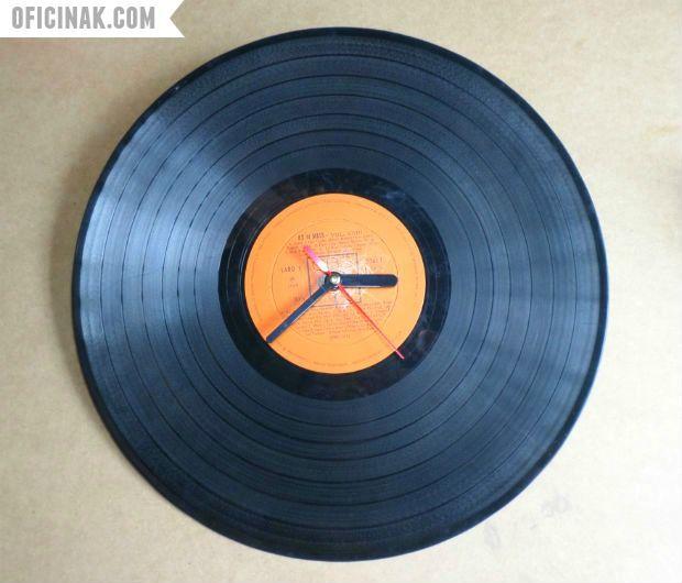 Relógio de parede de disco de vinil