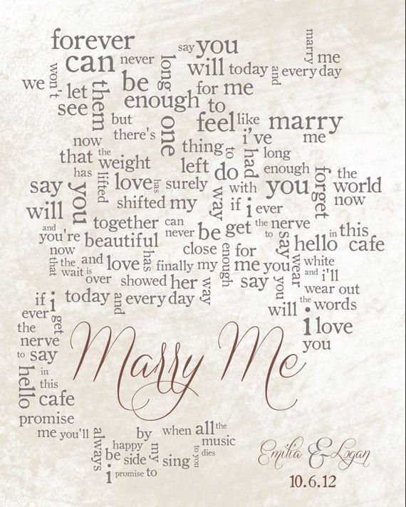 Personalized Word Art Wedding Song Lyrics By Lildreamercreative 40 00