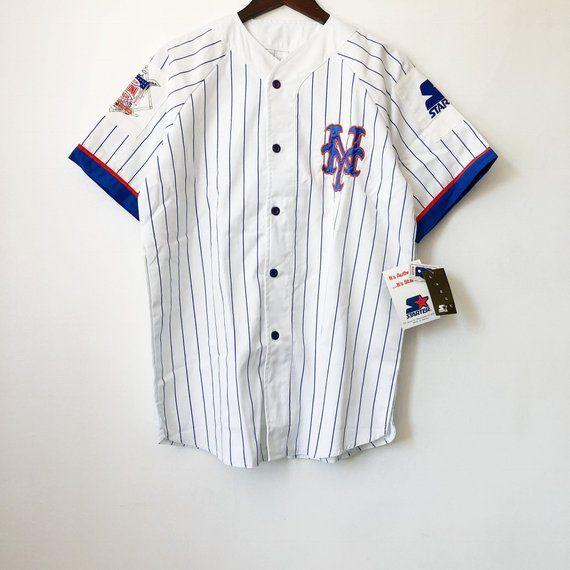 quality design ae01f c90cc vintage new york mets starter baseball jersey mens size ...