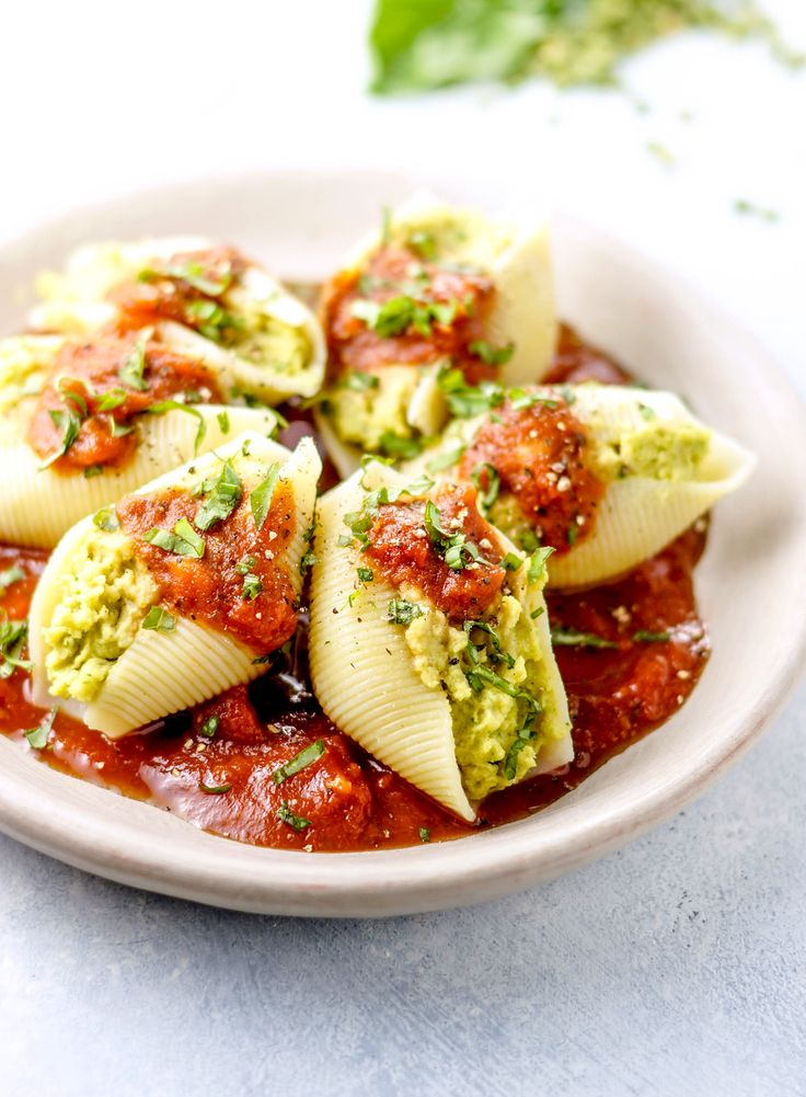 Split Pea Pesto Stuffed Shells - Pulse Pledge