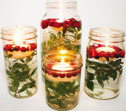 An Easy D.I.Y. Centerpiece: Fill A Mason Jar With Water