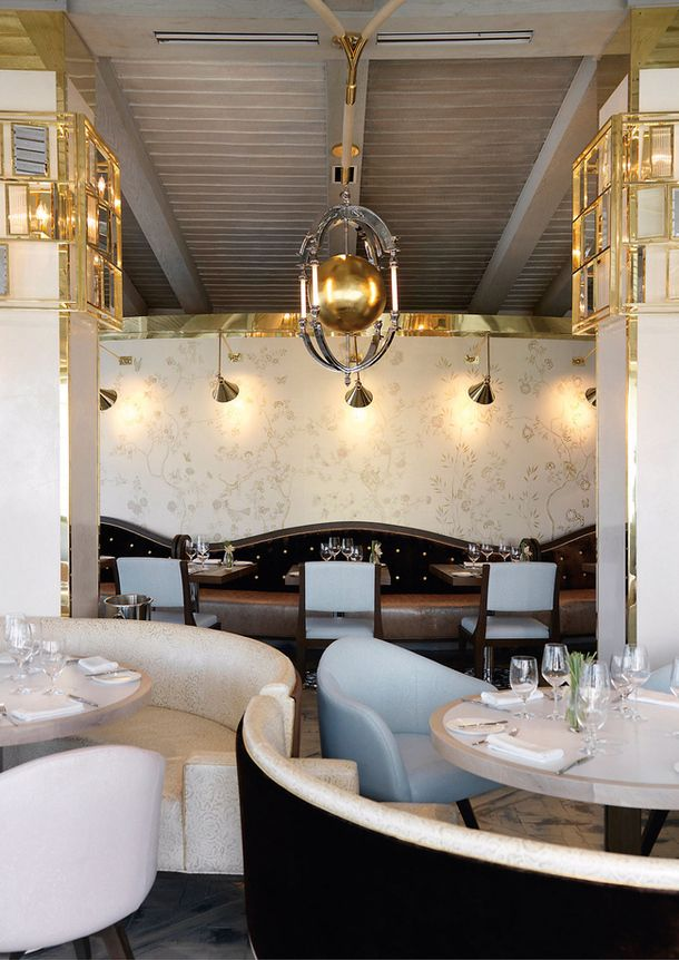 Restaurant at London Hotel in LA, by David Collins