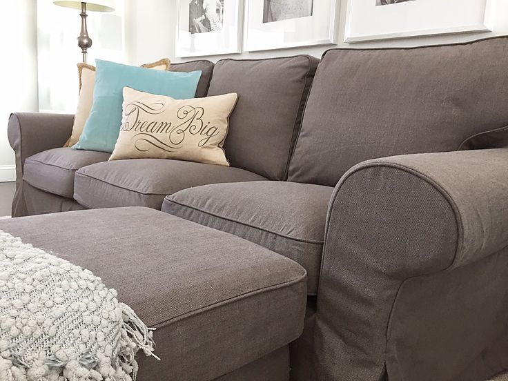 I have wanted one of these Ektorp couches ever since I first saw one.  It makes me think of a time when I can actually furnish a home for myself.