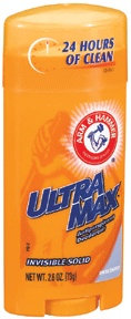 Arm & hammer ultramax deodorant antiperspirant invisible solid wide stick, unscented 2.6 oz (79 g)