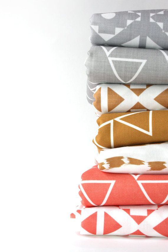 Modern crib sheets- Coral Pink-Honey - Grey- gender neutral - nursery fitted sheet- toddler bed sheet