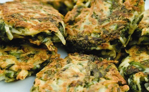 Spinach Latkes-with eggs over easy for breakfast xmas morning?