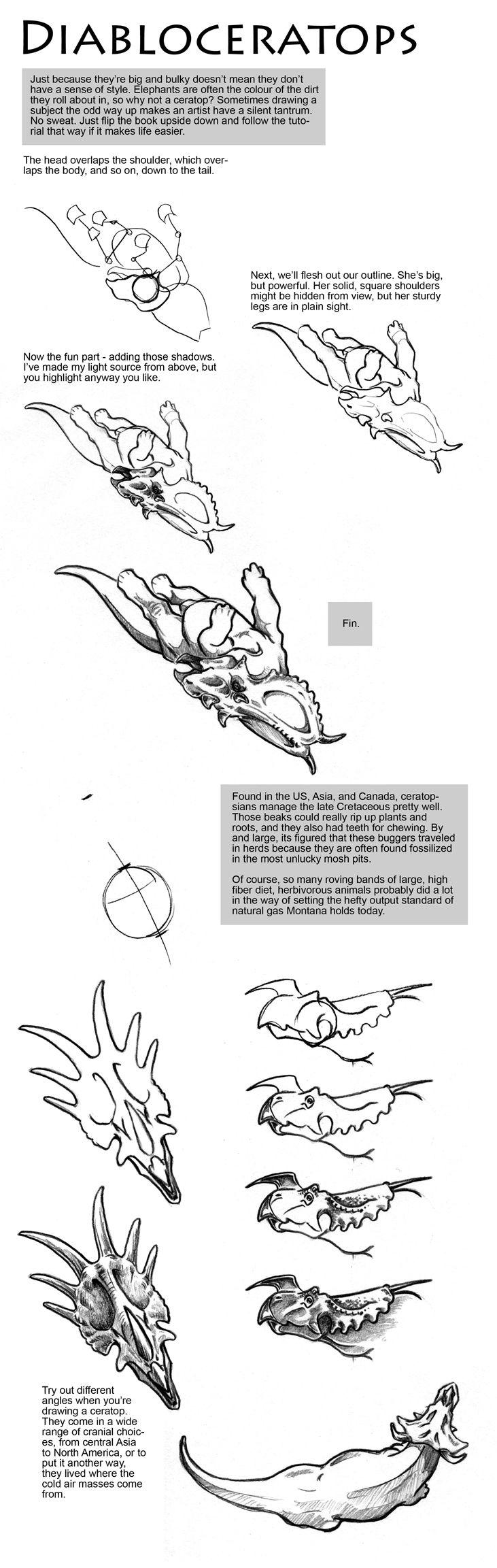 Diabloceratops Drawing Tutorial by sketcherjak