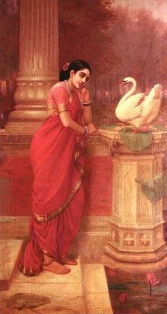 Damayanti and Swan, Raja Ravi Verma
