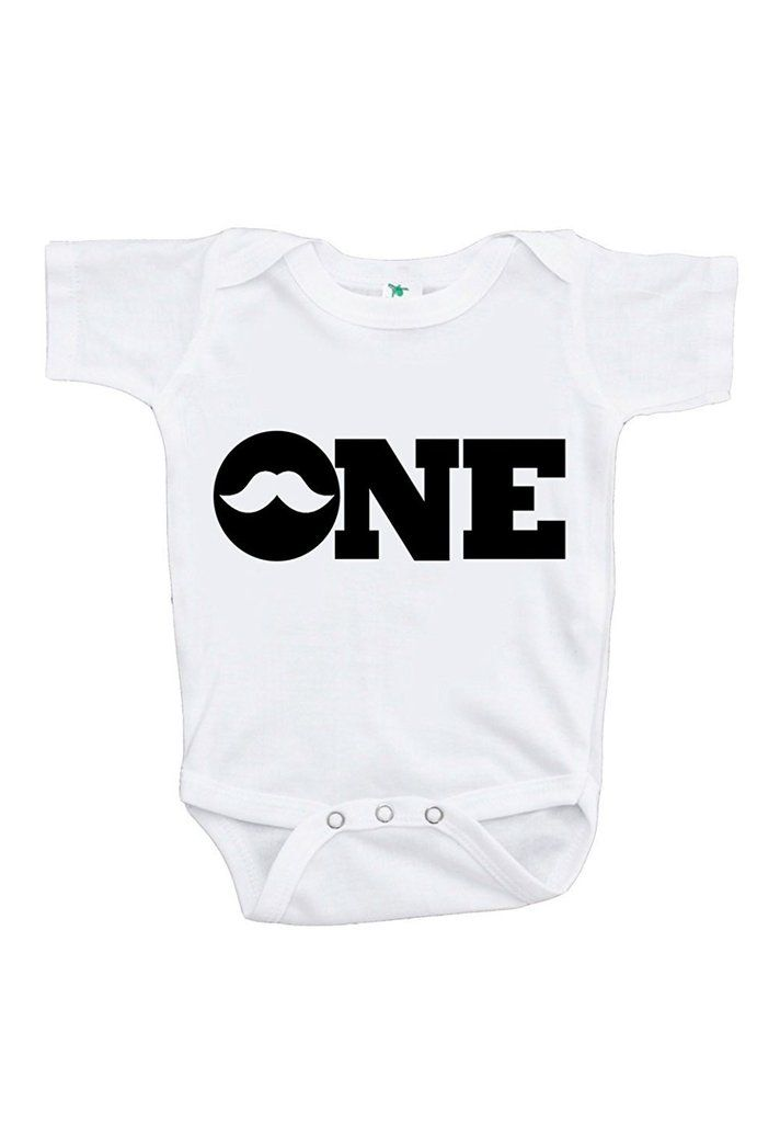 Custom Party Shop Baby Boy's Mustache First Birthday Onepiece Outfit