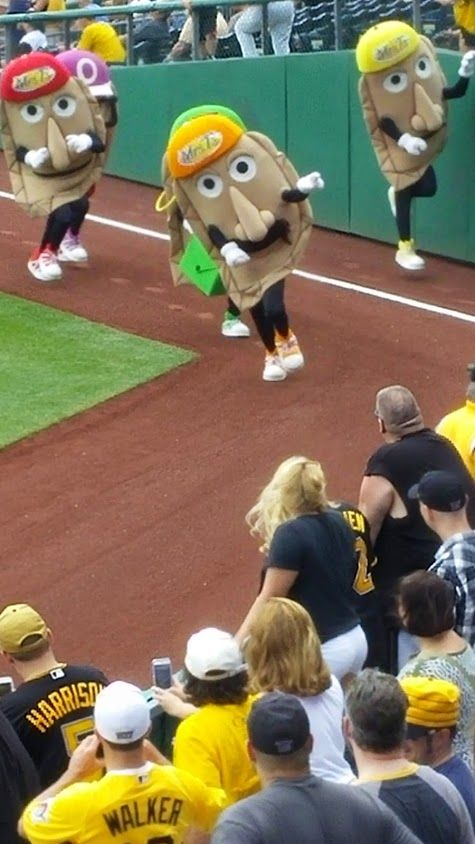 The Great Pittsburgh Pierogi Race at PNC Park in Pittsburgh, PA