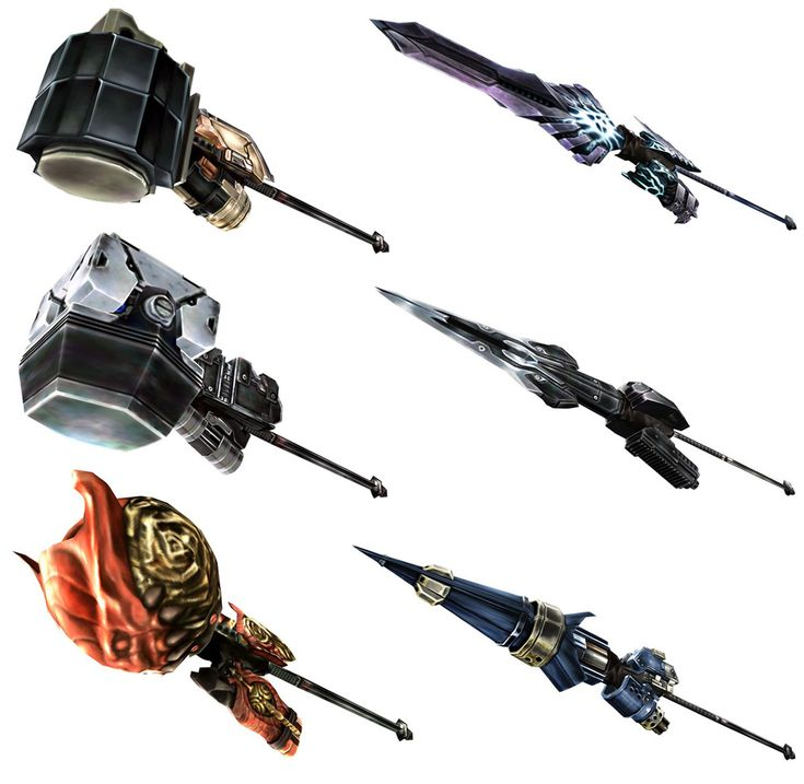 Weapon Renders from God Eater 2