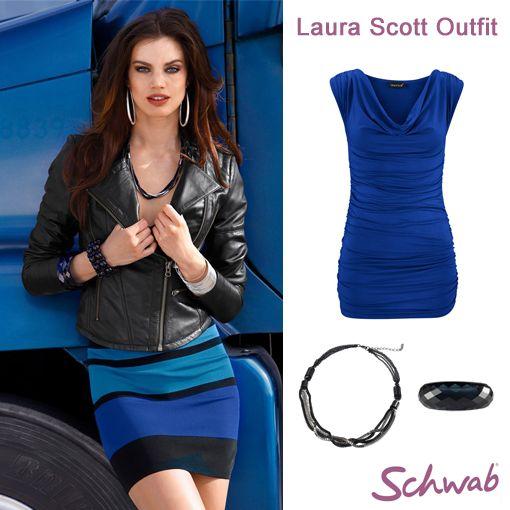 Mit dem modischen Laura Scott #Outfit dem grauen Winter entfliehen. #LauraScott