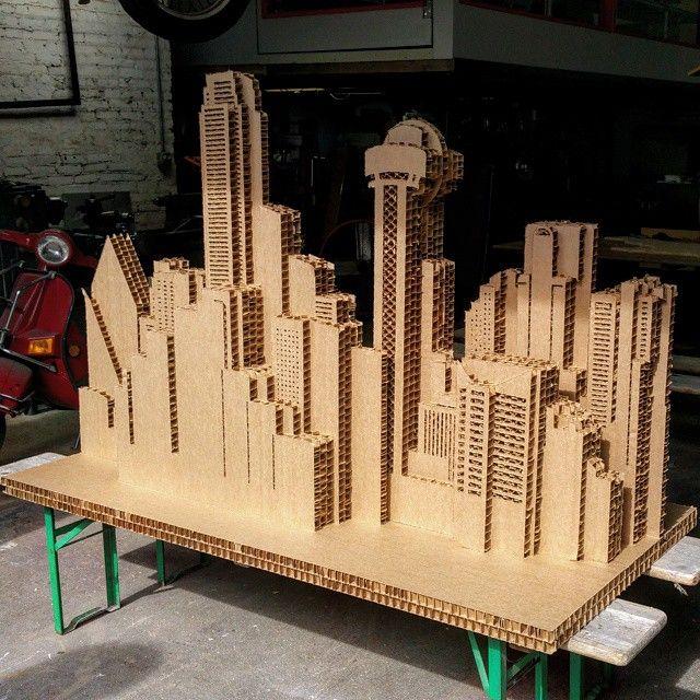 Cardboard city scape
