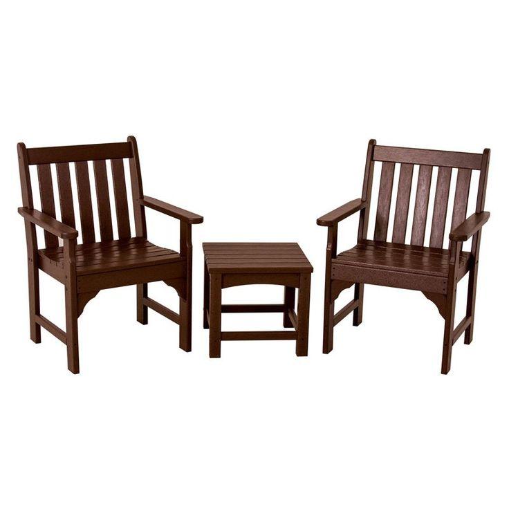 POLYWOOD® Vineyard Garden Chair Set   Seats 2   Conversation Patio Sets At  Hayneedle $680