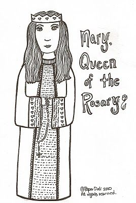 paper dali free coloring page of our lady of the rosary
