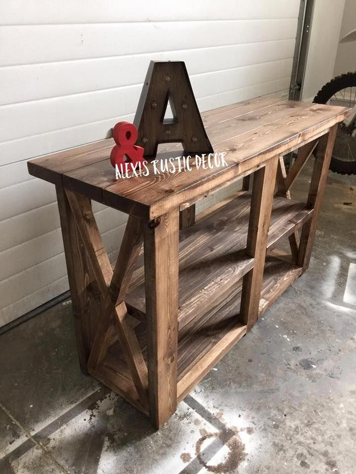 Rustic Home Decor Ana White Entry Way Console Table Coffee Bar Diy Shanty 2 Chic Shabby Living Room
