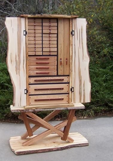 Custom Jewelry Chest on Stand by Nature's Knots Custom Furniture | Hatch.co