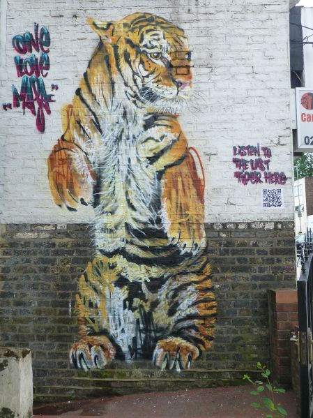 Tiger by Louis Masai at Brockley Cross