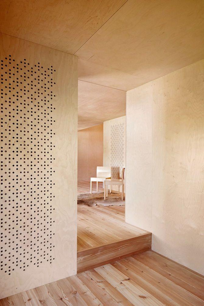 Plywood interior : Camponovo Baumgartner Architekten: Casa C - Thisispaper Magazine