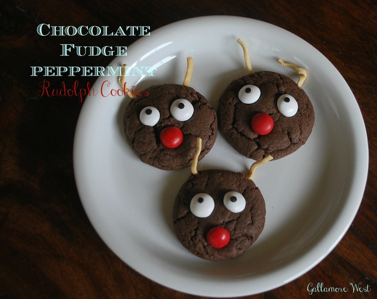 gallamore west: Easy Chocolate Fudge Peppermint Rudolph Cookies!: Sugar Cookies, Rudolph Cookies, Holidays Food, Easy Chocolates Fudge, Holidays Craftfooddecor, Gallamor West, Cookies Swap, Basic Sugar, Crafts Food Decor