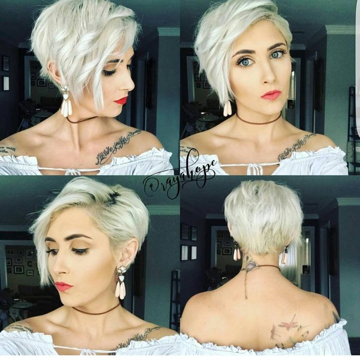 "8,505 Likes, 87 Comments - Short Hairstyles Pixie Cut (@nothingbutpixies) on Instagram: ""Give me one word to describe @domdomhair cut on former long haired model @adrianna.christina"""