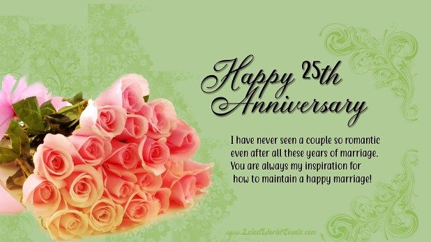 Happy Silver Jubilee Anniversary Happy 25th Anniversary Images In 2020 25th Wedding Anniversary Wishes Wedding Anniversary Wishes Happy 25th Anniversary