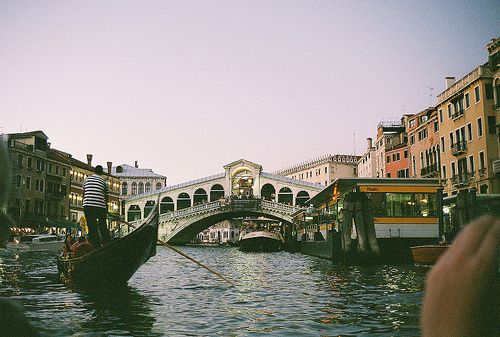 by nobutyes. The Rialto Bridge in Venice, Italy!! I've been there! <3