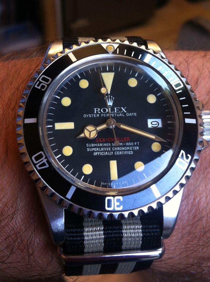 "Vintage rare Rolex ""Red"" Sea-Dweller Submariner w/ NATO strap"