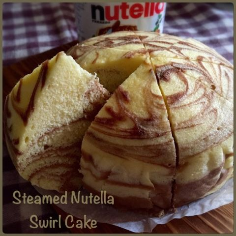 My Mind Patch: Steamed Nutella Swirl Cake 蒸榛子酱纹蛋糕
