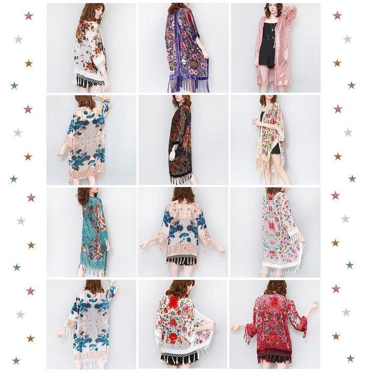 We have a rainbow of silk velvet kimonos online @asosmarketplace & in store @topshop Oxford Circus  #peekaboo #vintage #asosmarketplace #asosmarketplaceboutiques #topshop #oxfordstreet #oxfordcircus #kimono #velvet #silk #tassels #festival #boho #gypsy #rainbow #fashion #style #peekaboovintage # Peekaboovintage.com