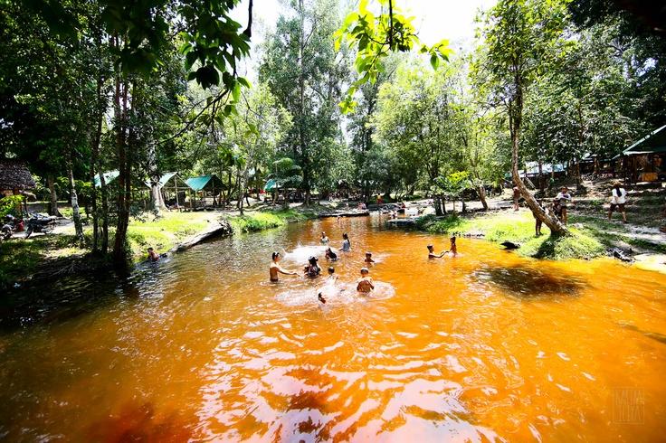 Mt Kulen river. Mt Kulen is a 2 hour drive from Siem Reap.