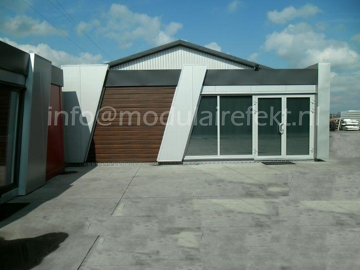 Modulair kantoor, Winkel, Barcontainer, Kantoorunits, Bureelcabine, Bijgebouwen www.modulairefekt.nl