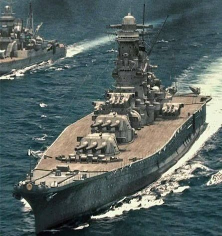 Yamato, named after the ancient Japanese Yamato Province, was the lead ship of the Yamato class of battleships that served with the Imperial Japanese Navy during World War II. On 7 April 1945 she was sunk by American carrier-based bombers and torpedo bombers with the loss of most of her crew.: