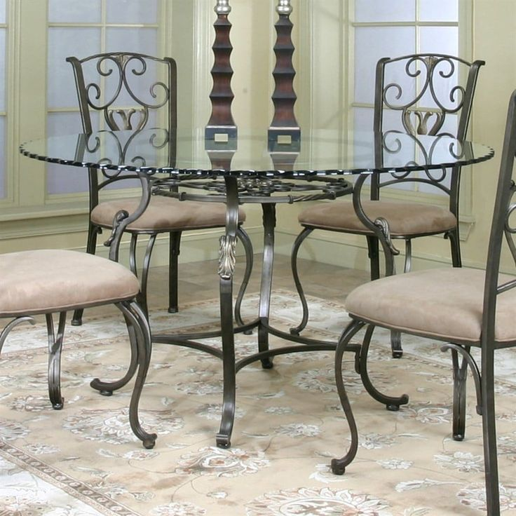 Shop Cramco J9811-4 Wescot Round Glass Top Dining Table at The Mine. Browse our dining tables, all with free shipping and best price guaranteed.