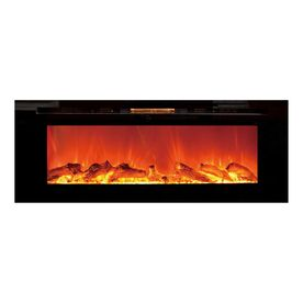 touchstone 50 4 in w black fan forced electric fireplace at lowes rh pinterest com